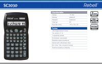 Rebell SC2030 vedecká kalkulačka 1 riadkový displej