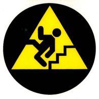 I 1900 S Pozor schody! (panáčik piktog. na ozna. schodov ) 6 x 6 cm