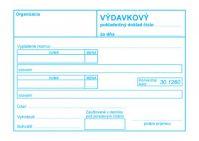 321 Výdavkový pokladničný doklad bez DPH-samoprepis