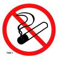7030 1 S Zákaz fajčiť piktogram samolepka 10 x 10cm