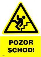 1312 2 S Pozor schod ! A5 samolepka