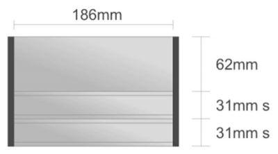 Ds111/BL nástenná tabuľa 186x124 mm design Economy