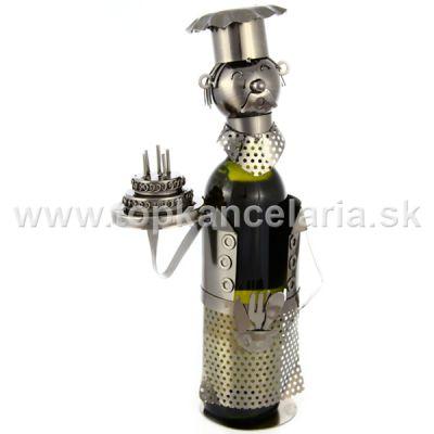 99290 Kovový stojan na víno, motív narodeniny