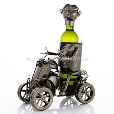 97622 Kovový stojan na víno, motív štvorkolka