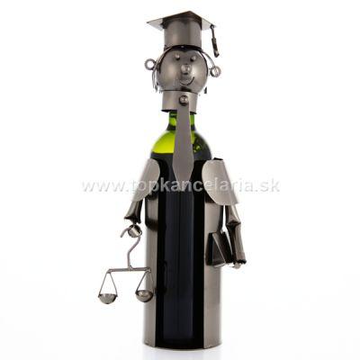 96092 Kovový stojan na víno, motív justícia