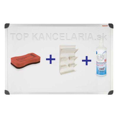 TM129ALF Set magnetická biela tabuľa 120x90cm + stierka+roztok+organizér